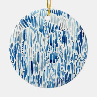 Blue grass christmas ornament