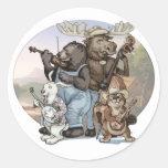 Blue Grass Critters by Mudge Studios Round Sticker