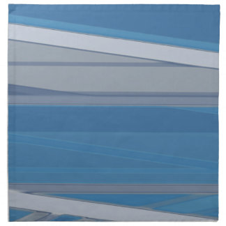 Blue Gray Abstract Napkins