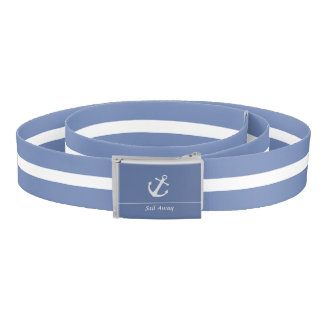 Blue-Gray and White Sail Away Belt