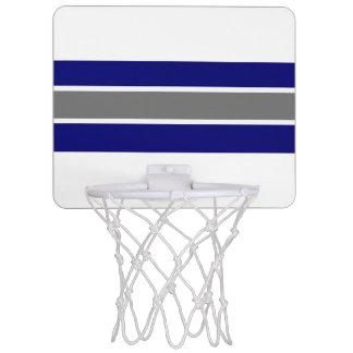 Blue Gray and White Strip Design Mini Basketball Hoop