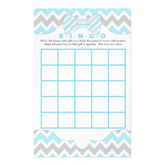 Blue gray Bingo and purse boy baby shower games 14 Cm X 21.5 Cm Flyer