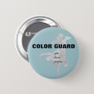 Blue Gray Black Color Guard Spin Dance Perform 6 Cm Round Badge
