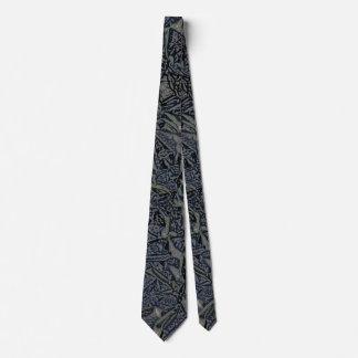 Blue Gray Digital Fractal Design Tie