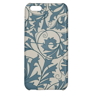 Blue gray lace design case for iPhone 5C