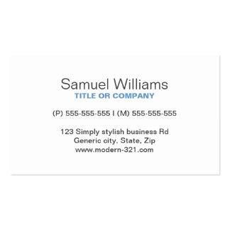 Blue gray modern generic simple elegant personal pack of standard business cards