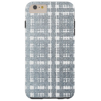 Blue Gray Modern Plaid Netted Ombra 6 Tough iPhone 6 Plus Case