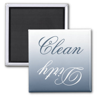 Blue-Gray Ombre Dishwasher Clean/Dirty Magnet
