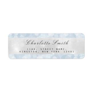 Blue Gray Pastel Sparkly Return Address Labels