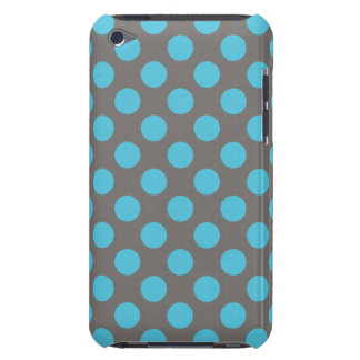 Blue Gray Polka Dots Barely There iPod Cases