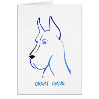 Blue Great Dane Card