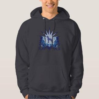 Blue Great Dane Logo Hooded Sweatshirts