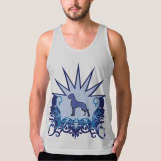 Blue Great Dane Logo Tank Top