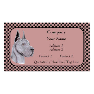 Blue Great Dane Show Colors Business Cards