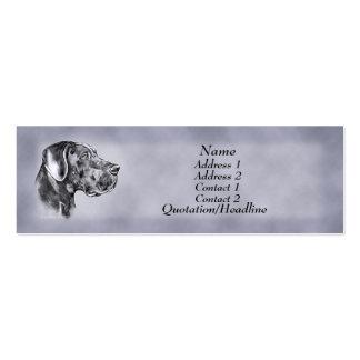 Blue Great Dane Uncrop Profile Card Business Card Template