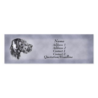 Blue Great Dane Uncrop Profile Card Pack Of Skinny Business Cards