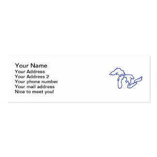 Blue Great Lakes Pack Of Skinny Business Cards