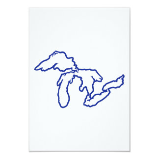 Blue Great Lakes Personalized Invitations