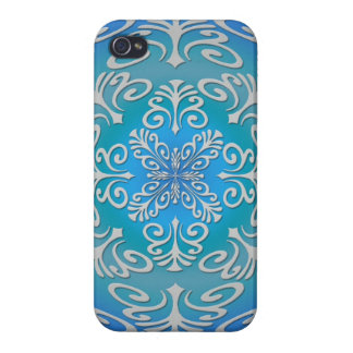 Blue Green Abstract Art Covers For iPhone 4