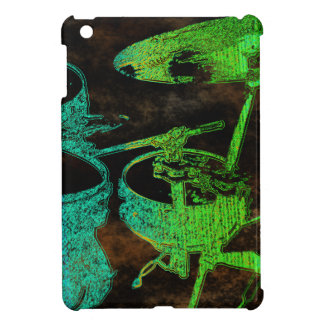 Blue Green Abstract Drums iPad Mini Cases