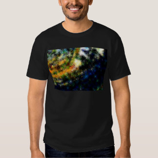 Blue Green Abstract Painting T Shirts
