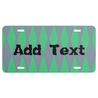 Blue green abstract pattern license plate