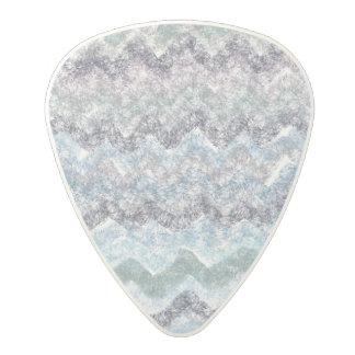 Blue green abstract stripes  Guitar Picks
