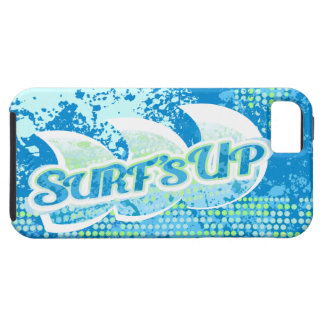 Blue green abstract surf's up iphone case