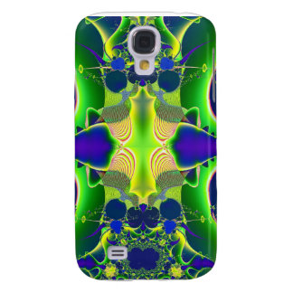 blue green alien fractal skin and cases galaxy s4 case