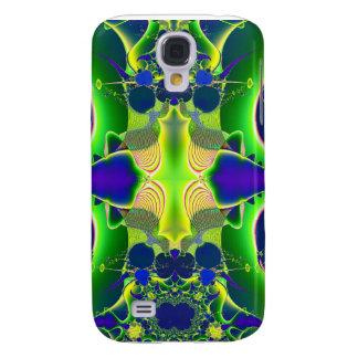 blue green alien fractal skin and cases