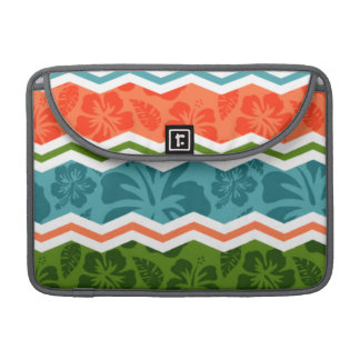 Blue Green and Orange Tropical Pattern Sleeves For MacBook Pro