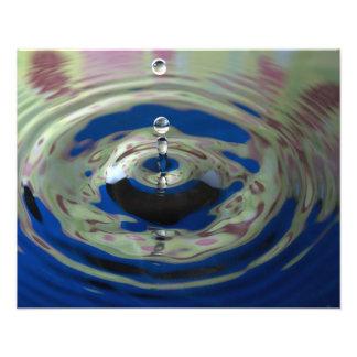 Blue Green and Purple Water Drop Photo Art