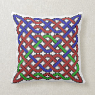 Blue, Green and Red Celtic Knots Cushions