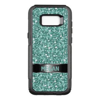 Blue Green And White Glitter OtterBox Commuter Samsung Galaxy S8+ Case