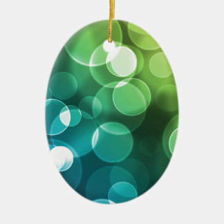 Blue Green And Yellow Bubbles Christmas Ornament
