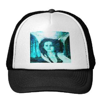 Blue Green Angel Mesh Hat