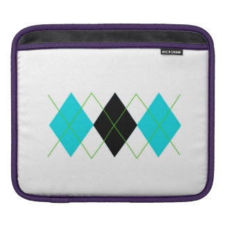 Blue & Green Argyle iPad Sleeve