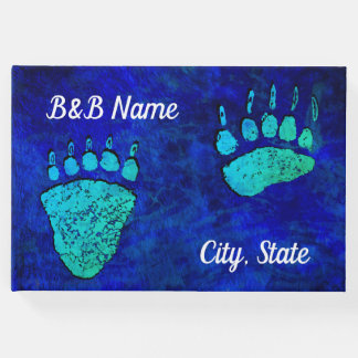Blue Green Bear Paws - Guest Book