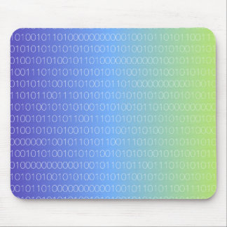 Blue Green Binary Mouse Pad
