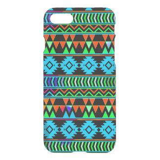 Blue Green Black Boho Aztec Tribal Stripes iPhone 7 Case