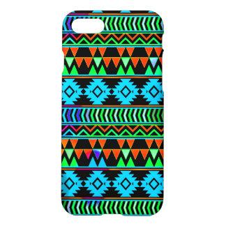 Blue Green Black Boho Aztec Tribal Stripes iPhone 8/7 Case