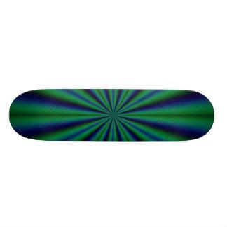 Blue-Green-Black Fractal on Skateboard