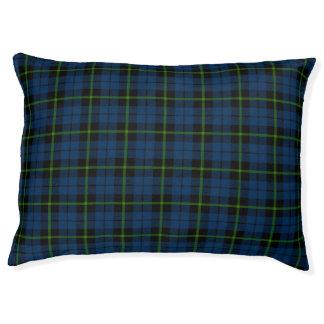 Blue green/black stripe Plaid Pet Bed