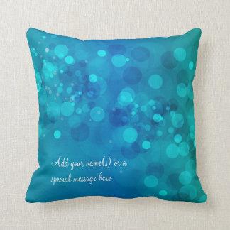 Blue Green Bokeh American MoJo Pillow