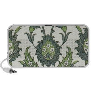 blue & green botanical pattern mini speakers
