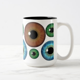 Blue Green Brown Eyeballs Cool Custom Mug Mug