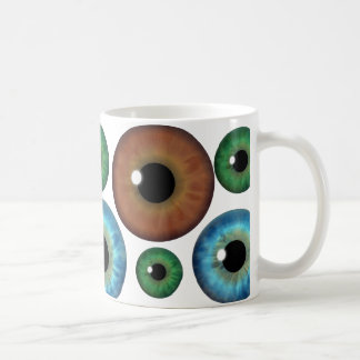 Blue Green Brown Eyeballs Cool Custom Mug