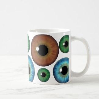 Blue Green Brown Eyeballs Cool Custom Mug