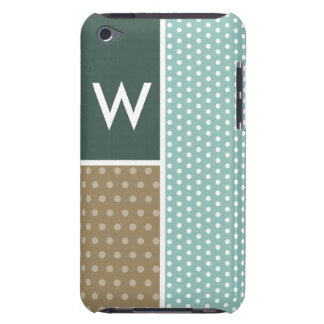 Blue, Green, Brown Polka Dots iPod Case-Mate Cases