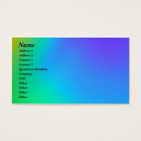 Blue & Green Business Card